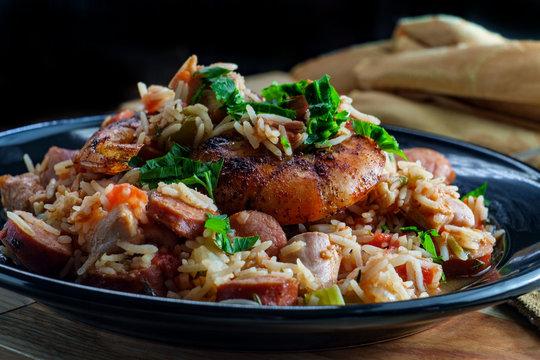 Shrimp Chicken Andouille Sausage Jambalaya