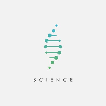 DNA logo design template.icon for science technology