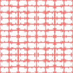 Vector coral pink rectangles grid abstract pattern. Suitable for textile, gift wrap and wallpaper.