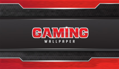 Abstract Gaming Wallpaper Vector Design With Grunge Effect