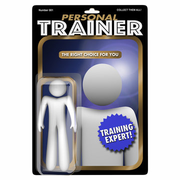 Personal Trainer Physical Exercise Fitness Professional Action Figure 3d Illustration