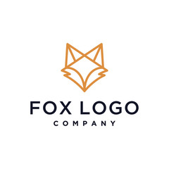 fox head outline vector icon logo illustration design