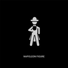white napoleon figure vector icon on black background. modern flat napoleon figure from people concept vector sign symbol can be use for web, mobile and logo.