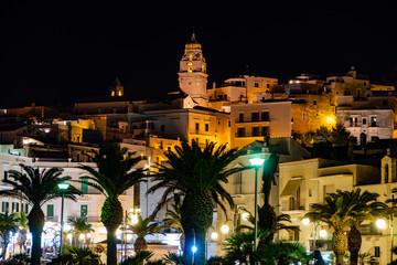 Night view of Vieste - main city of Capo Gargano