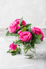 Wall Mural - Amazing wild pink roses