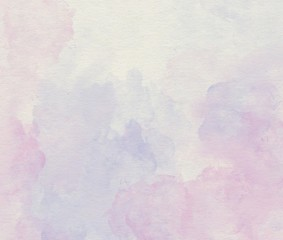 Purple watercolor soft abstract background