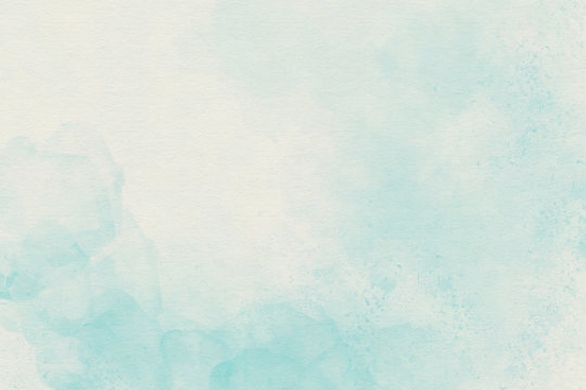Light blue watercolor soft background