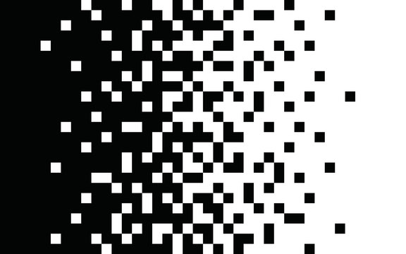 Pixel gradient Speed seamless pattern Vector line texture Fast effect design Black elements on white background