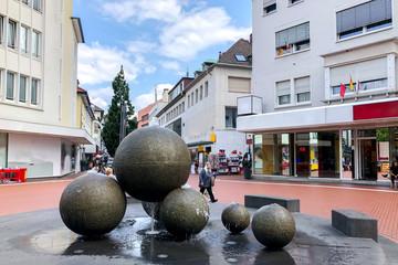 Kreuzplatz, Brunnen, Gießen, Deutschland