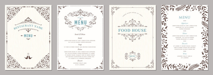 Wedding and restaurant menu.  Fotobehang
