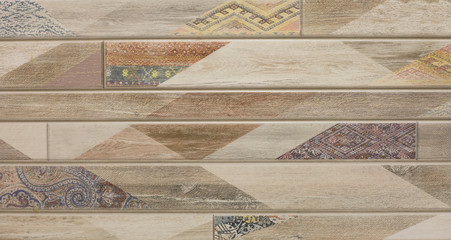 tile with mosaic texture wooden surface