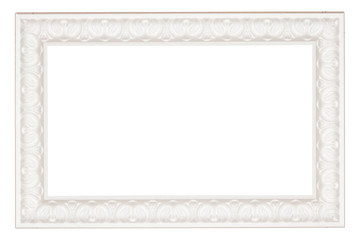 vintage classical white rectangle frame with texture pattern