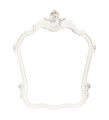 vintage classical white beautiful frame