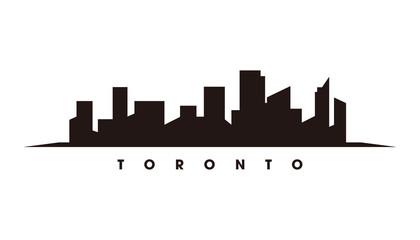 Wall Mural - Toronto skyline and landmarks silhouette vector