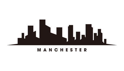 Wall Mural - Mancester skyline and landmarks silhouette vector