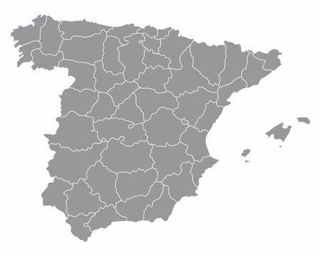 Spain regions map
