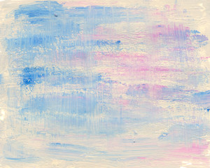 A photo of a colorful texture made with acrylic paints.