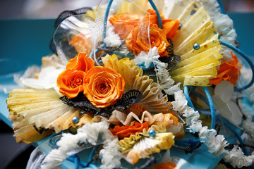 Floral design is put on show at the Floral Art and Design Show in London