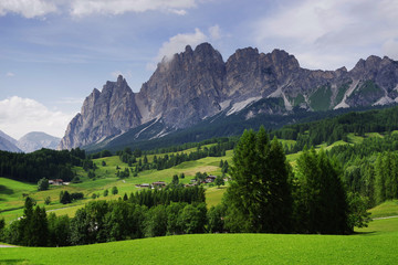 Wall Mural - Alpine landscape of Cristallo Group, Dolomites, Italy