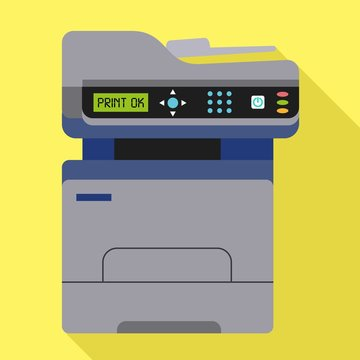 Office xerox icon. Flat illustration of office xerox vector icon for web design