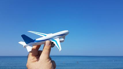 airplane holidays beach sea summer travel