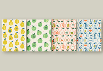 Patterns Set with Apples and Pears