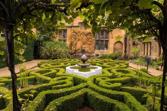Old English Garden and Fountain