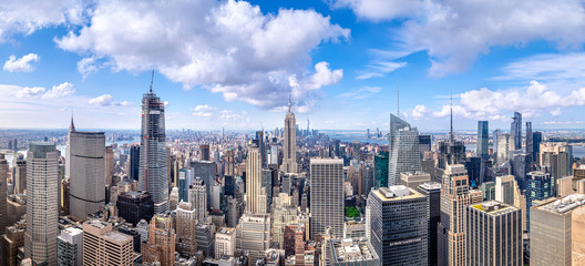 Fototapeten New York panoramic view at the skyline of new york