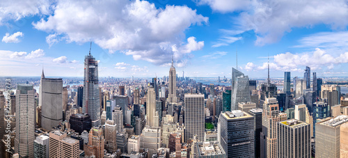 Wall mural panoramic view at the skyline of new york