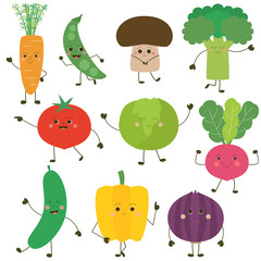 Personnages de légumes