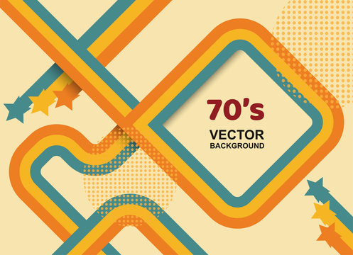 Abstract. 70s background, Vintage retro. vector.
