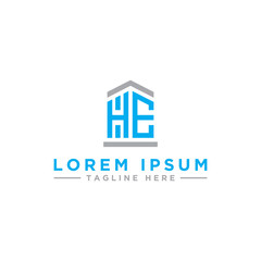 Inspiring company logo designs from the initial letters HE logo icon. -Vectors