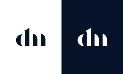 Abstract letter DN logo. This logo icon incorporate with abstract shape in the creative way.