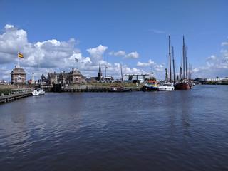 Canal lock in Lemmer