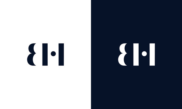Abstract letter BH logo. This logo icon incorporate with abstract shape in the creative way.