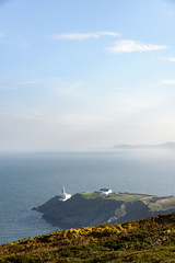 The Baily Lighthouse, on the eastern side of Howth Head near Dublin, Ireland