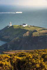 View of lighthouse from the Summit near Howth Dublin