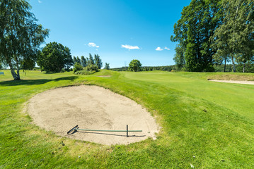 Summer view over Swedish golf course