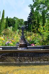 Italienische Blumen-Wassertreppe auf der Insel Mainau