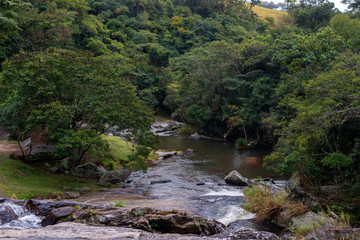 Cachoeira do Pimenta na cidade de Cunha, estado de São Paulo, Brasil