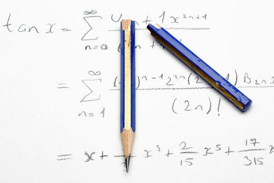 math formulas are solved after broken pencil