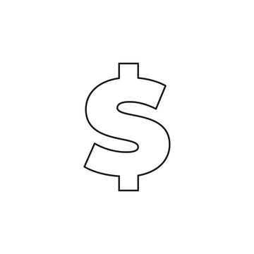 Dollar sign icon, currency sign - money symbol