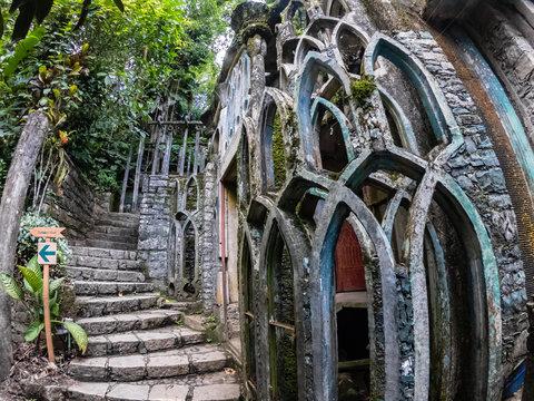 abandoned surrealistic Garden in Xilitla Mexico