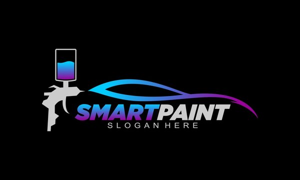 Smartpaint with black background logo