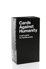 IRVINE, CA - JANUARY 28, 2015: Cards Against Humanity Party Game. Originated from a Kickstarter campaign it has received acclaim for its simple concept backed up by its satirical, mature content.