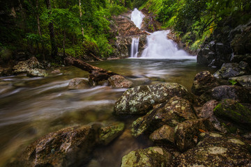 Aluminium Prints Mills Pi-tu-gro waterfall, Beautiful waterfall in Tak province, ThaiLand.
