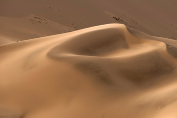 Beautiful sand patterns in the dunes of the Namib-Naukluft National Park, Namibia