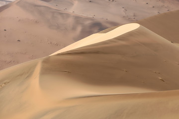 Colorful sand dunes in the Namib-Naukluft National Park, Namibia