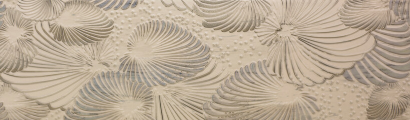 ceramic tile with leaf pattern Wall mural