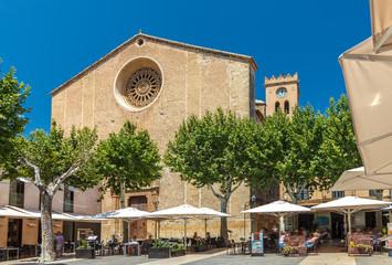 The market square Placa Major - Pollenca - Mallorca